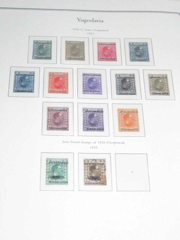 3 Yugoslavia Palo Premium Albums Hingeless Color Pages 1918-2003 Retail $1250+