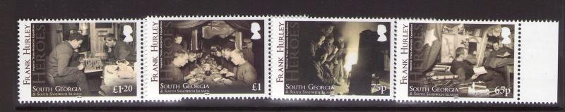 South Georgia Heros FRANK HURLEY  05/11/14 MNH marginal