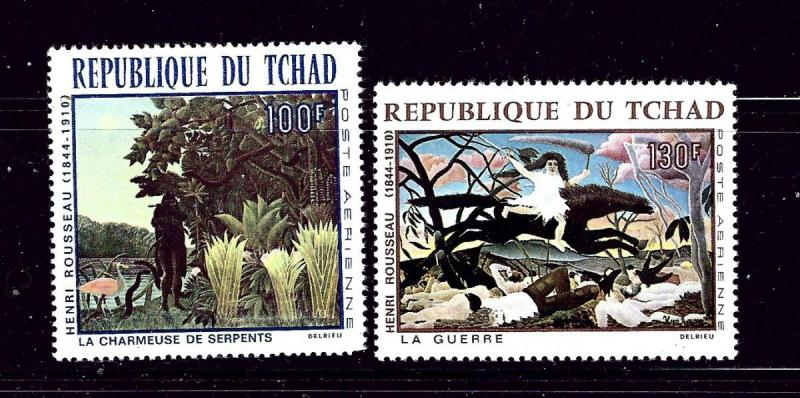 Chad C43-44 MNH 1968 Paintings