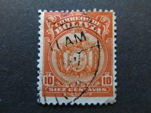 A4P31F58 Bolivia 1919-20 10c Perf 12 used