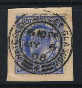 GB KEVII - SG230 2d ULTRAMARINE CANCELLED WATERLOO STREET GLASGOW CDS