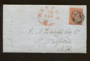 1851 United States Postage Stamp #10 Used On Personal Letter Cover