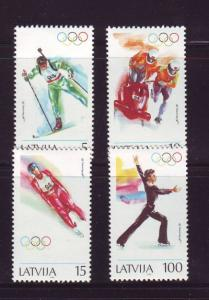 Latvia Sc 356-9 1994 Lillehammer Winter Olympics stamp set mint NH