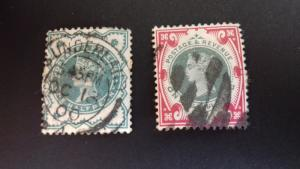 Great Britain 1900 Queen Victoria - New Colours complete set Used