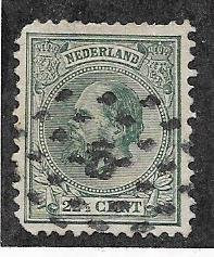 Netherlands  #29  22 1/2c dark green  (U) CV $42.50