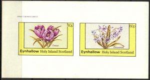 {E141} Eynhallow Scotland Flowers (3) Sh.2 Imperf. MNH Cinderella !!
