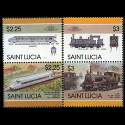 ST.LUCIA 1986 - Scott# 813-4 Locomotives $2.25-3 NH