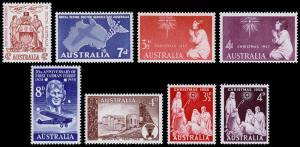 Australia Scott 304 // 313 (1957-58) Mint NH/LH VF M