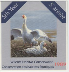Canada - #FWH5 1989 Wildlife Conservation Stamp Booklet - Snow Geese