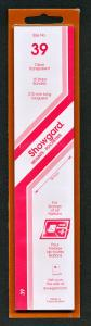Showgard Stamp Mounts Size 39/215 CLEAR Background Pack of 15