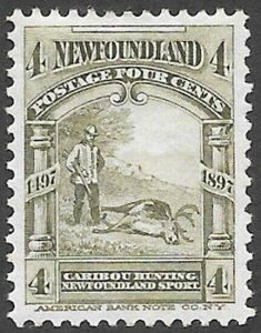 Newfoundland Scott Number 64 VF H
