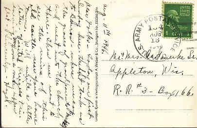 US - US Army Postal Service in Germany 1946 with US Stamp