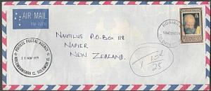 SOLOMON IS 1979 commercial cover to NZ POSTAL AGENCY cancel POITETE........54355