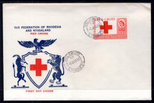 Rhodesia and Nyasaland 188 Red Cross U/A FDC