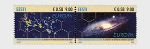2009 Estonia Astronomy - Europa Issue Pr  (Scott 617) MNH
