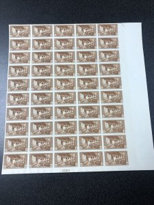 US 759 Mesa Verde Imperf Sheet Of 50 Mint No Gum As Issued - SUPERB.