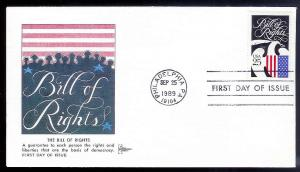 UNITED STATES FDC 25¢ Bill of Rights 1989 Gill Craft