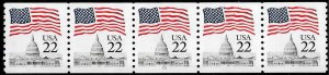 Sc 2115a   22¢ Flag over Capitol PNC/5 Plate #19, MNH