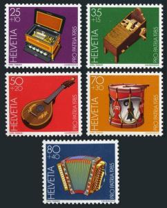 Switzerland B513-B517,MNH.Michel 1296-1300. Musical Museum Exhibits,1985