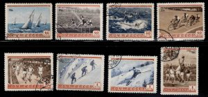 RUSSIA  Scott 1710-1717 Used 1954 Sports set CTO on various corners