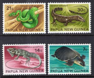 Papua New Guinea 344-347 Reptiles MNH VF