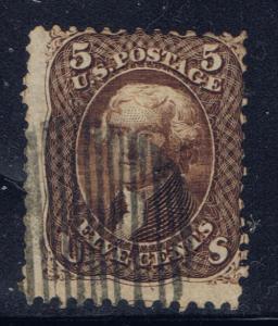 U.S. 76 Used 1863 Washington Issue