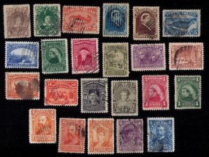 NEWFOUNDLAND CANADA1880-1901 USED (LOT OF 23) HIGH CAT.VALUE F-VF