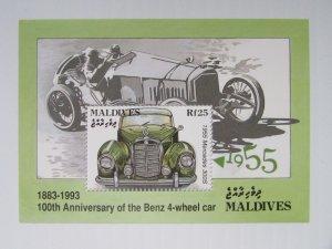 Maldives MNH S/S 1918 100th Anniversary Of Benz Automobiles 1993