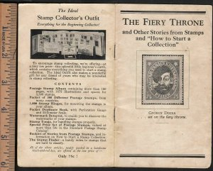 1932 The Fiery Throne stamp stories H E Harris 24 pgs