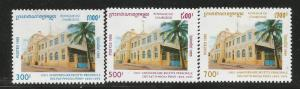 CAMBODIA 1472-1474, MNH, C/SET OF 3 STAMPS, MAIN POST OFFICE CENTENNIAL