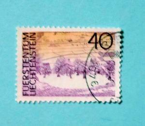 Liechtenstein - 518, Used. Tower House. SCV - $0.30