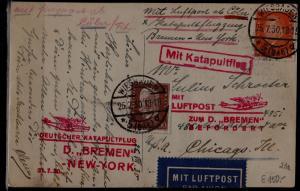 Germany Catapult card 25.7.30 Wiesbaden