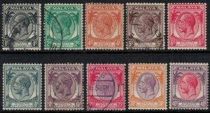 Straits Settlements #217-24,6-9*/u  CV $11.40