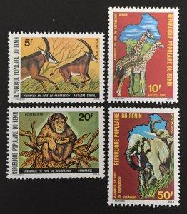 Benin 1979 #439-42, MNH, CV $4.35