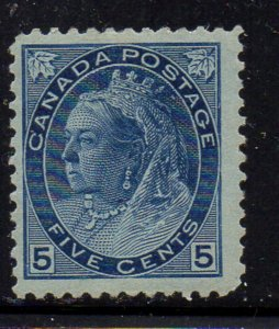Canada Sc 79 1899 5c Blue Victoria numeral issue stamp miny
