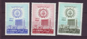J24040 JLstamps 1962 lebanon set mh #c334-6 arab league