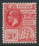 British Guiana SG 260 Mint Hinged  (Sc# 179 see details) Carmine