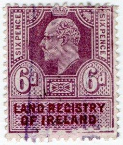 (I.B) Edward VII Revenue : Land Registry Ireland 6d