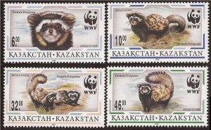 1997 Kazakhstan 154-57 WWF 5,00 €