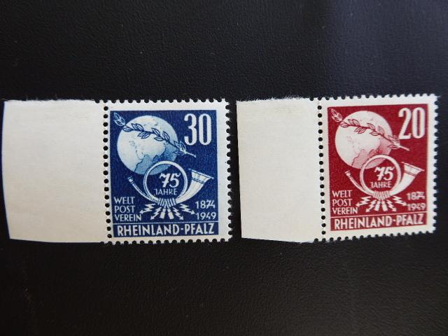 Allied Occupation of Germany 1949   Sc.# 5N45-5N46  CV $10.00          Book5