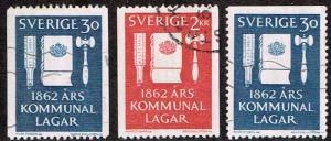 Sweden # 610 - 612 U