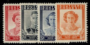 SOUTHERN RHODESIA GVI SG64-67, VICTORY set, LH MINT.