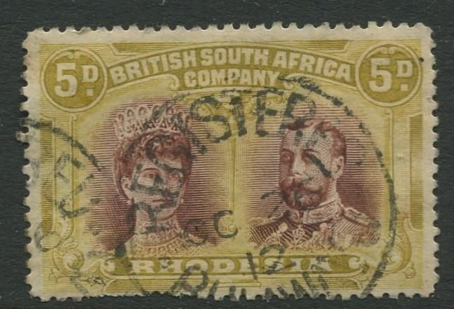 British South Africa - Scott 107 - Queen Mary -1910 - Used - Single 5p Stamp