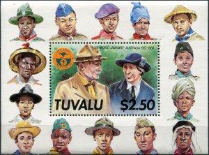 Tuvalu. 1987. 16th World Jamboree-Australia (1987-1988) (MNH OG) Souvenir Sheet