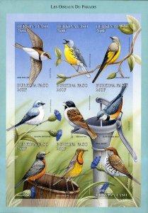 BURKINA FASO 1104 MH IMPERF SS SCV $13.50 BIN $7.00 BIRDS