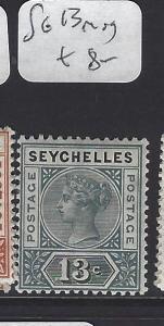 SEYCHELLES  (P1807B)  QV  13C     SG 13   MOG