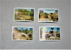 Kenya - 76-79, MNH Set. Auto Passing Through Village. SCV - $3.65