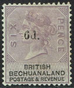 BECHUANALAND 1888 QV 6D ON 6D