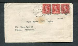 Postal History - Indianapolis IN 1902 Black Numeral Duplex Cancel Cover B0439