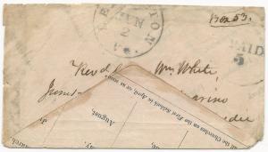 CSA Adversity Cover Blue Lexington, VA CDS Handstamp Paid 5 June 2, 1862 Church